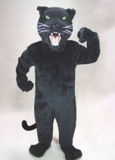 black panther cat mascot head costume suit halloween time left