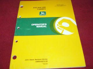 john deere 410 420 loader operator s manual time left