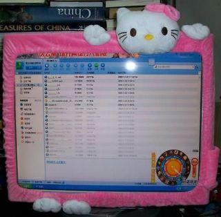 Cute Sanrio Hello Kitty Computer Monitor Push Side Cushion Cover Rare