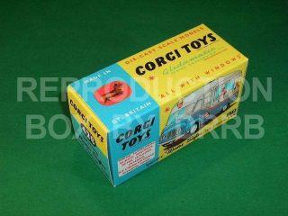 Corgi #428 Mister Softee Ice Cream Van   Reproduction Box by DRRB