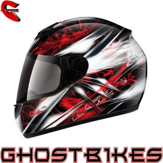 GMAC PILOT FULL FACE ACU GOLD MOTORBIKE RACING POLYCARBONATE