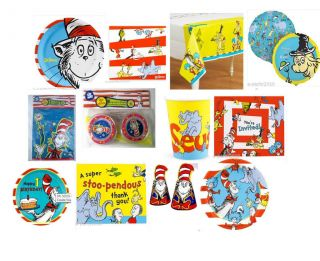 DR. SEUSS CAT IN THE HAT Birthday Party Supplies ~ Create Your Set