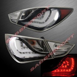 BLACK L.E.D. TAIL LIGHTS LED FOR 2011 2013 SONATA 4PCS PLUG N PLAY