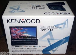 BRAND NEW 2012 KENWOOD KVT 516 7 IN DASH AM/FM/DVD/CD/MP3/USB KVT516