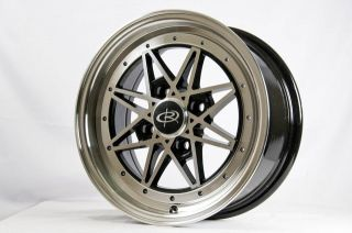 15 ROTA FLASHBACK RIMS WHEELS 15x7 +40 4x100 CIVIC FIT INTEGRA JETTA