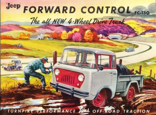 1956 Jeep FC 150 Truck Forward control Original Sales Brochure Catalog
