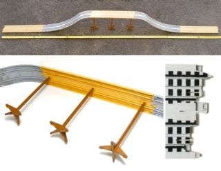15 PC 6 5 Feet Long Tyco HO Slot Car Bridge Track