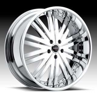 20 MHT Manhattan Chrome Rims Wheels BMW 745 750 750LI