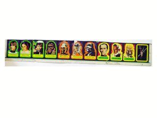 1977 20th Century Fox Star Wars Series 1 Uncut Stickers 28 1 2 X 3 1 2