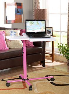 Kings Brand Pink / White Kids Childrens Split Top Adjustable Laptop
