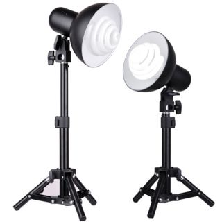 300W Photo Studio Table Top Light Kit Stands Bulbs Reflectors For Soft