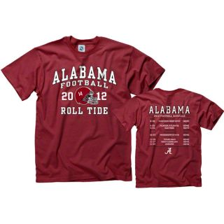 Alabama Crimson Tide 2012 Football Season Schedule T Shirt