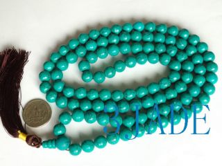 42 Tibetan 108 Turquoise Buddhist Prayer Beads Mala