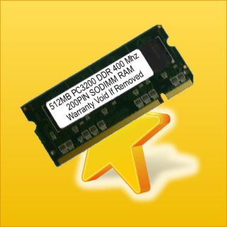 512MB PC3200 Low DDR 400MHz SODIMM Laptop Notebook RAM