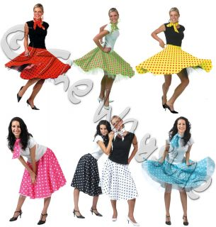 Rock N Roll Skirts 50s 60s Dance Lindy Hop Jive 7 Diff Colours One