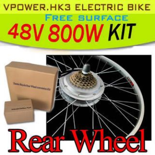 48V 800W 26 Rear Wheel Electric Bicycle Motor Kit E Bike Cycling