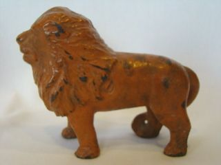 Wonderful 1930s A C Williams Cast Iron LION Still Bank Unusual