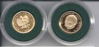 Poland 25ZL Proof Gold Coin Beatification J P II 2011