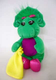 Barney Baby Bop Talking Plush Toy Sings ABC Alphabet Song 11