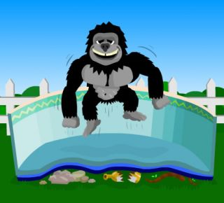 Padding Above Ground Swimming Pools Saves Liners Geotextile