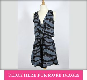 ALC Black & Grey Print Dress Worn by LeAnn Rimes