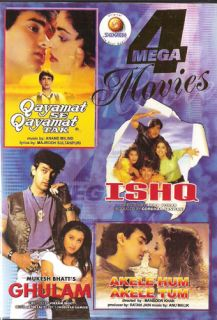 Hindi Indian 4 Movies Qayamat SE Qayamat Tak Ishq Ghulam Akele Hum