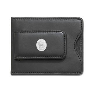 LogoArt MLB Logo Black Leather Money Clip Credit Card Holder