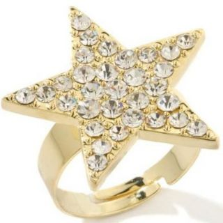 Paula Abdul Reach for The Stars Gold Crystal Pave Ring