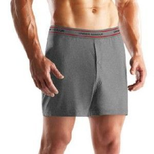 Armour Boxer Short 4 Inseam Gray Medium 30 32 Underwear Active
