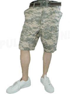 ACU Digital Military BDU Cargo Combat Shorts XS 3XL