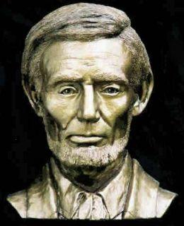 Abraham Lincoln Bust Life Mask Sculpture Civil War