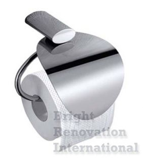 OVAL Bathroom Accessory Solid Brass Chrome Toilet Paper Roll Holder
