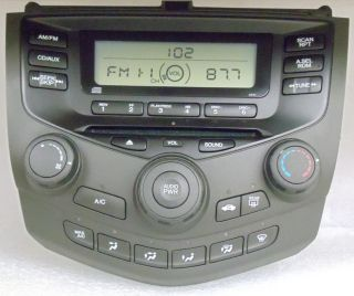 2003 2004 2005 Honda Accord Radio CD Player Aux 2AA0