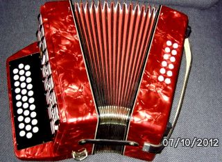 in Germany G C F Weltmeister Diatonic Accordion Accordian Case