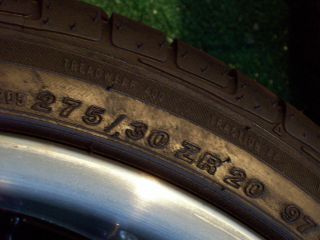 20 MRR GT1 Gloss Black Wheels Achilles Tires BMW 5 6 7 Series 535 550