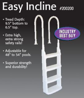 Easy Incline Above Ground Swimming Pool in Pool Ladder