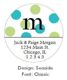 72 Polka Dots Return Address Labels Stickers Fun Cute