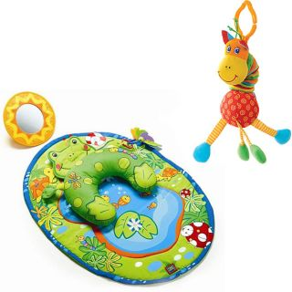 Tummy Time Frog Activity Mat and Jittering Giraffe Toy Tummy Time Frog
