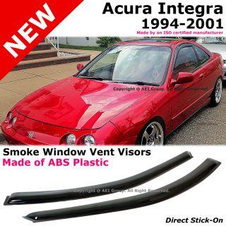 Acura Integra DC2 94 01 2 Door JDM Style Smoke Window Side Visor Rain