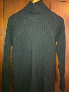 Adrienne Vittadini Brand Black Turtle Neck Sweater Sz M