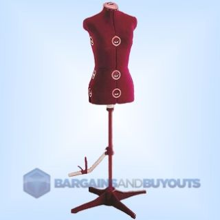 Singer Adjustable Medium Dress Form   Red   DF150