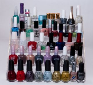 Acrylic Nail Polish Display Rack Stand Table Holds 45
