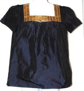 New $485 Adam Plus Eve Navy Blue Embellished Shirt 4