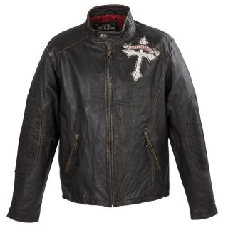 Limited Edition Affliction Live Fast  Leather Biker Jacket Cost Over