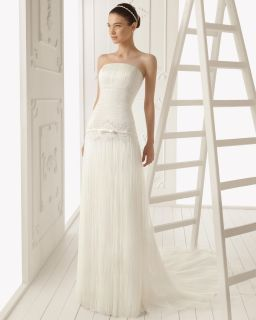 2013 Sexy Beach Wedding Dress Court Train Tulle Bridal Gown Size New
