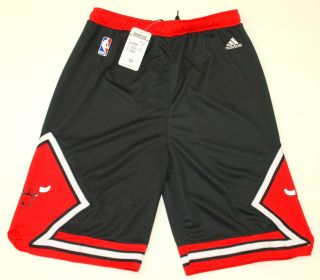 NBA Adidas Chicago Bulls Youth 2012 Alternate Black Shorts New with