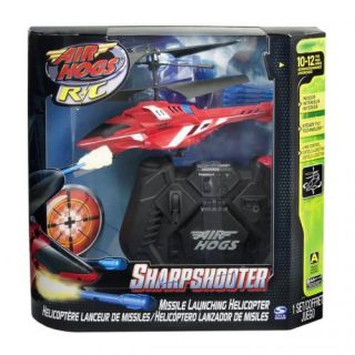 Air Hogs Sharp Shooter Radio Control Helicopter Red New