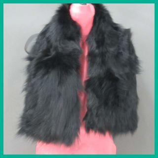 Adrienne Landau Womens Scarf Black Rtl $295 Jmto