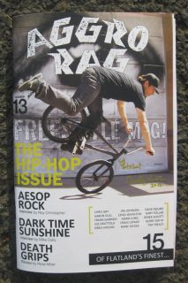 FREESTYLE MAG #13 NEW PLYWOOD HOODS BMX ZINE HIP HOP ISSUE AESOP ROCK