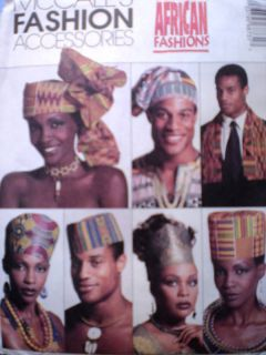 Uncut McCalls Pattern African Fashion Hats Emeaba 6873